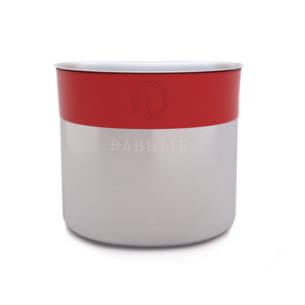 Babette Steel Red Rubber Band